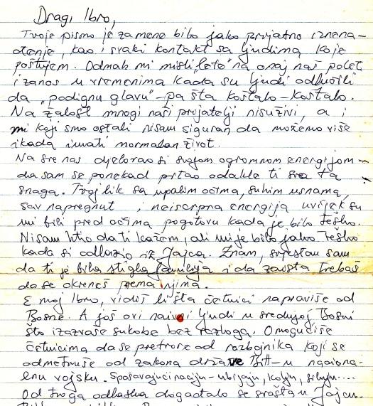 2 serija,, zlatanovo pismo, prva strana, krupnije