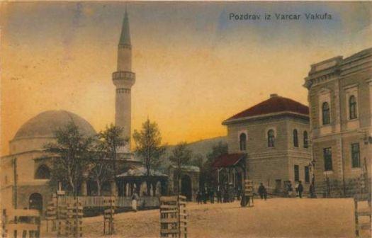 Kolobara - gradski trg sa Mustafa-ginom džamijom, poštanska karta s početka XX stoljeća