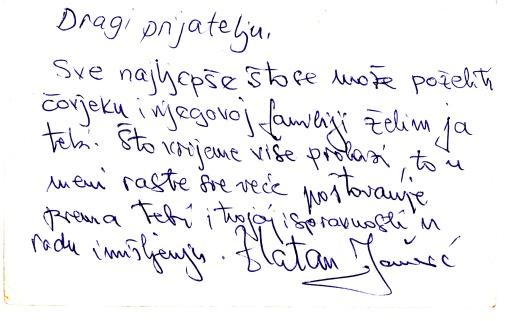 zlatanova čestitka, 15. 12. 94.