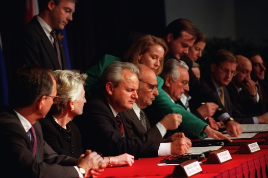 Dayton Peace Accords Signed