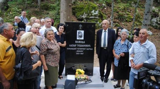 Lazar Tešanović, spomenik
