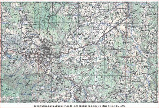 A Staro selo - karta