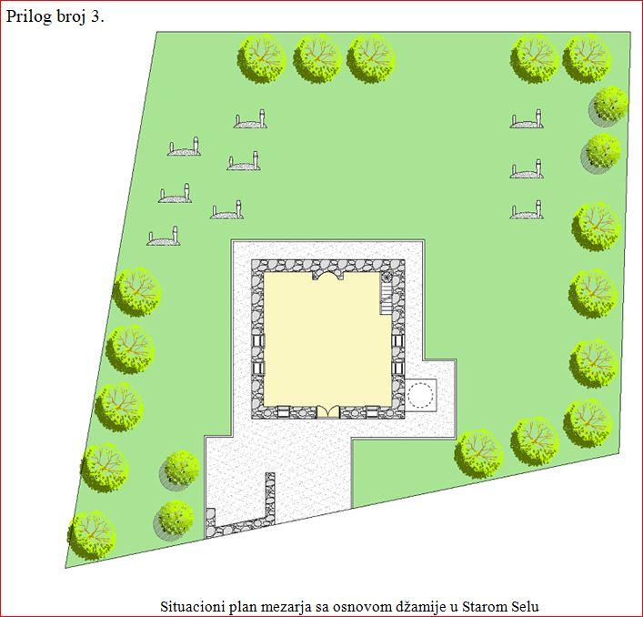 A Staro Selo - plan mezarja
